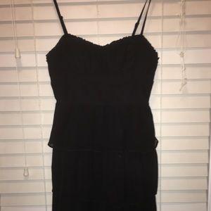 AMERICAN EAGLE Black Ruffle Mini Dress